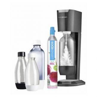 Sodavandsmaskine - Sodastream - megaPack titanium-silver