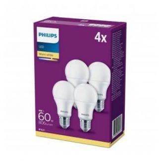 Philips LED 60 watt standard, E27 - varm hvid