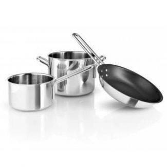 Eva Trio startersæt 3 dele - kasserolle, gryde og pande