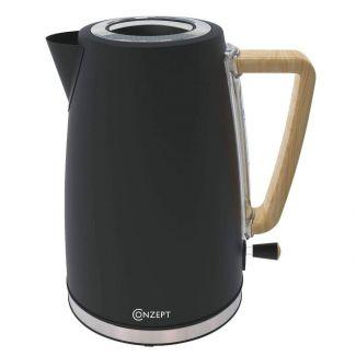 Conzept el-kedel sort m træhåndtag - Kaffe & te