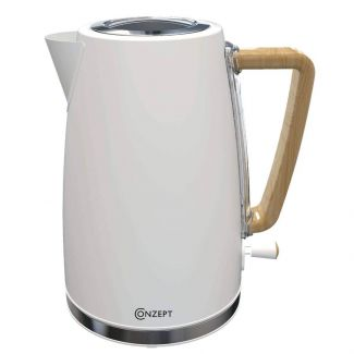 Conzept el-kedel Hvid m træhåndtag - Kaffe & te