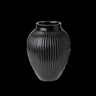 Knapstrup vase Sort 20 cm - Gaver 200 - 300 kr.