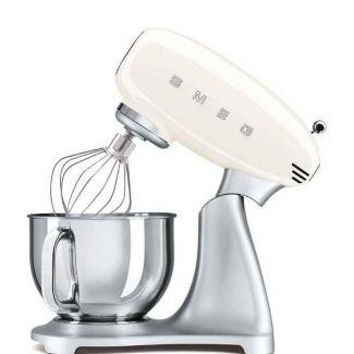 SMEG 50' look - SMF02CREU - 4,8 ltr- 800watt-sort - Køkkenmaskiner