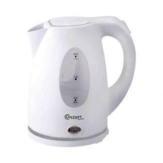 Billig elkedel fra Conzept - 1,5 liter - hvid - Kaffe & te