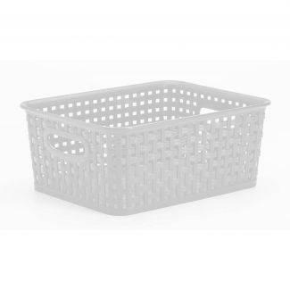 Hvid fletkurv 10 liter - Plast1 - Rengøring & vask