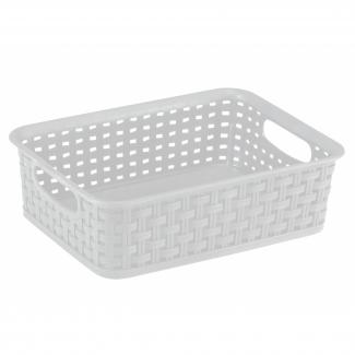 Hvid fletkurv 2 liter - Plast1 - Rengøring & vask