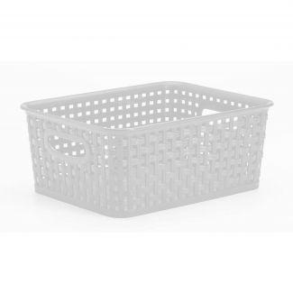 Hvid fletkurv 5 liter – Plast1 - Rengøring & vask
