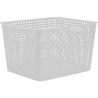 Hvid fletkurv 17 liter - Plast1 - Rengøring & vask