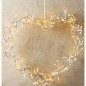 Conzept Christmas hjerte - 80 LED - Lyskranse