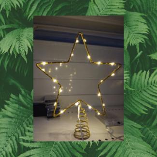 Topstjerne med LED lys - Lyskranse