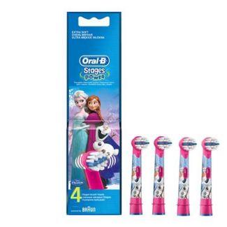 Stages Power - Frost - 4 børster - Oral B - Tandbørstehoveder - Tandpleje