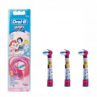Stages Power - Princesser - 3 børster - Oral B - Tandbørstehoveder - Tandpleje