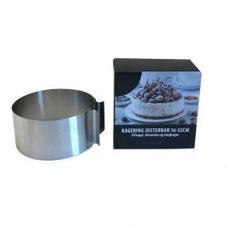 Justerbar kagering 16 - 22 cm - Bageforme